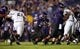 Sep 14, 2013; Evanston, IL, USA; Northwestern Wildcats running back Treyvon Green (22) runs with the ball against the Western Michigan Broncos during the third quarter at Ryan Field. Mandatory Credit: Jerry Lai-USA TODAY Sports