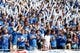 Sep 14, 2013; Buffalo, NY, USA; Buffalo Bulls fans support the team during the game against the Stony Brook Seawolves at University of Buffalo Stadium. Buffalo beats Stony Brook 26-23 in OT. Mandatory Credit: Kevin Hoffman-USA TODAY Sports