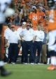 Sep 5, 2013; Denver, CO, USA; Denver Broncos head coach John Fox on his sidelines during the game against the Baltimore Ravens at Sports Authority Field at Mile High. Mandatory Credit: Ron Chenoy-USA TODAY Sports