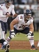 Aug 23, 2013; Oakland, CA, USA; Chicago Bears guard Kyle Long (75) against the Oakland Raiders at O.co Coliseum. Mandatory Credit: Kirby Lee-USA TODAY Sports