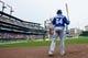 Sep 15, 2013; Detroit, MI, USA; Kansas City Royals second baseman Emilio Bonifacio (64) gets set to bat in the first inning against the Detroit Tigers at Comerica Park. Mandatory Credit: Rick Osentoski-USA TODAY Sports