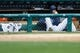 Sep 15, 2013; Detroit, MI, USA; Detroit Tigers starting pitcher Doug Fister (58) in the dugout against the Kansas City Royals at Comerica Park. Mandatory Credit: Rick Osentoski-USA TODAY Sports