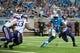Sep 8, 2013; Detroit, MI, USA;  Detroit Lions running back Reggie Bush (21) during the third quarter against the Minnesota Vikings at Ford Field. Mandatory Credit: Tim Fuller-USA TODAY Sports