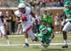 Sep 14, 2013; Denton, TX, USA; Ball State Cardinals running back Horactio Banks (4) eludes North Texas Mean Green defensive back Lairamie Lee (27) during the game at Apogee Stadium. The Mean Green defeated the Cardinals 34-27. Mandatory Credit: Jerome Miron-USA TODAY Sports