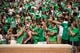 Sep 14, 2013; Denton, TX, USA; The North Texas Mean Green fans and students root for their team during the game between the Mean Green and the Ball State Cardinals at Apogee Stadium. The Mean Green defeated the Cardinals 34-27. Mandatory Credit: Jerome Miron-USA TODAY Sports