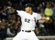 Sep 17, 2013; Chicago, IL, USA; Chicago White Sox starting pitcher Jose Quintana (62) throws a pitch against the Minnesota Twins during the first inning at U.S Cellular Field. Mandatory Credit: Mike DiNovo-USA TODAY Sports
