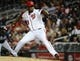 Sep 17, 2013; Washington, DC, USA; Washington Nationals relief pitcher Rafael Soriano (29) throws the ball during the ninth inning against the Atlanta Braves at Nationals Park. The Nationals won 4-0. Mandatory Credit: Brad Mills-USA TODAY Sports
