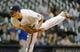 Sep 18, 2013; Milwaukee, WI, USA;   Milwaukee Brewers pitcher Tyler Thornburg pitches in the first inning against the Chicago Cubs at Miller Park. Mandatory Credit: Benny Sieu-USA TODAY Sports