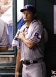 Sep 19, 2013; St. Petersburg, FL, USA; Texas Rangers starting pitcher Yu Darvish (11) in the dugout between inning pitching against the Tampa Bay Rays at Tropicana Field. Mandatory Credit: Kim Klement-USA TODAY Sports
