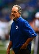 Sep 15, 2013; Indianapolis, IN, USA; Indianapolis Colts head coach Chuck Pagano against the Miami Dolphins at Lucas Oil Stadium. Mandatory Credit: Andrew Weber-USA TODAY Sports