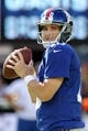 Sep 15, 2013; East Rutherford, NJ, USA; New York Giants quarterback Eli Manning (10) before a game against the Denver Broncos at MetLife Stadium. Mandatory Credit: Brad Penner-USA TODAY Sports