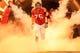 Sep 15, 2013; Atlanta, GA, USA; Atlanta Falcons guard Garrett Reynolds (75) runs out before the game against the St. Louis Rams at the Georgia Dome. The Falcons won 31-24. Mandatory Credit: Daniel Shirey-USA TODAY Sports