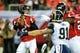 Sep 15, 2013; Atlanta, GA, USA; Atlanta Falcons quarterback Matt Ryan (2) drops back to pass in the game against the St. Louis Rams at the Georgia Dome. The Falcons won 31-24. Mandatory Credit: Daniel Shirey-USA TODAY Sports