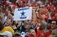 Sep 15, 2013; Kansas City, MO, USA; Fans cheer before the game between the Kansas City Chiefs and Dallas Cowboys at Arrowhead Stadium. Kansas City won the game 17-16. Mandatory Credit: John Rieger-USA TODAY Sports