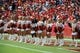 Sep 15, 2013; Kansas City, MO, USA; Kansas City Chiefs cheerleaders perform in the second half of the game with the Dallas Cowboys at Arrowhead Stadium. Kansas City won the game 17-16. Mandatory Credit: John Rieger-USA TODAY Sports