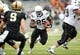 Sep 21, 2013; West Point, NY, USA; Wake Forest Demon Deacons running back Josh Harris (25) rushes the ball during the first half against the Army Black Knights at Michie Stadium. Mandatory Credit: Danny Wild-USA TODAY Sports
