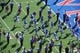 Sep 21, 2013; Lawrence, KS, USA; Kansas Jayhawks players enter the field before the game with the Louisiana Tech Bulldogs at Memorial Stadium. Kansas won 13-10. Mandatory Credit: John Rieger-USA TODAY Sports
