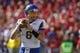Sep 21, 2013; Lincoln, NE, USA; South Dakota State Jackrabbits quarterback Austin Sumner (6) looks to pass against the Nebraska Cornhuskers in the first quarter at Memorial Stadium. Mandatory Credit: Bruce Thorson-USA TODAY Sports