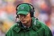 Sep 21, 2013; Blacksburg, VA, USA; Marshall Thundering Herd head coach Doc Holliday during the game against the Virginia Tech Hokies at Lane Stadium. Mandatory Credit: Peter Casey-USA TODAY Sports