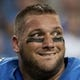 Sep 8, 2013; Detroit, MI, USA; Detroit Lions center Dominic Raiola (51) during the third quarter against the Minnesota Vikings at Ford Field. Mandatory Credit: Tim Fuller-USA TODAY Sports