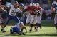 Sep 21, 2013; Lincoln, NE, USA; Nebraska Cornhuskers running back Imani Cross (32) runs against the South Dakota State Jackrabbits in the third quarter at Memorial Stadium. Mandatory Credit: Bruce Thorson-USA TODAY Sports