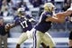 Sep 21, 2013; Seattle, WA, USA; Washington Huskies quarterback Keith Price (17) passes against the Idaho State Bengals during the first quarter of a 56-0 Washington victory at Husky Stadium. Mandatory Credit: Joe Nicholson-USA TODAY Sports