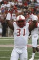 Sep 21, 2013; Oxford, OH, USA; Miami (Oh) Redhawks defensive back Chrishawn Dupuy (31) reacts to the crowd during a game against the Cincinnati Bearcats at Fred Yager Stadium. Mandatory Credit: David Kohl-USA TODAY Sports
