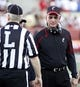 Sep 21, 2013; Oxford, OH, USA; Cincinnati Bearcats head coach Tommy Tuberville talks with an official during a game against the Miami (Oh) Redhawks at Fred Yager Stadium. Cincinnati won 14-0. Mandatory Credit: David Kohl-USA TODAY Sports
