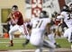 Sep 21, 2013; Bloomington, IN, USA; Indiana Hoosiers cornerback Brian Williams (7) drops back to pass against the Missouri Tigers during the second quarter at Memorial Stadium. Mandatory Credit: Mike DiNovo-USA TODAY Sports