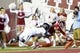 Sep 21, 2013; Bloomington, IN, USA; Indiana Hoosiers wide receiver Cody Latimer (3) dives for a touchdown against Missouri Tigers defensive back Randy Ponder (7) during the second quarter at Memorial Stadium. Mandatory Credit: Mike DiNovo-USA TODAY Sports