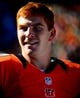 Sep 22, 2013; Cincinnati, OH, USA; Cincinnati Bengals quarterback Andy Dalton (14) on the sidelines during the fourth quarter against the Green Bay Packers at Paul Brown Stadium. Mandatory Credit: Andrew Weber-USA TODAY Sports