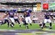 Sep 22, 2013; Baltimore, MD, USA; Baltimore Ravens running back Bernard Pierce (30) scores a one-yard touchdown in the third quarter against the Houston Texans at M&T Bank Stadium. Mandatory Credit: Evan Habeeb-USA TODAY Sports