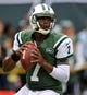 Sep 22, 2013; East Rutherford, NJ, USA; New York Jets quarterback Geno Smith (7) before the game against the Buffalo Bills at MetLife Stadium. Mandatory Credit: Robert Deutsch-USA TODAY Sports