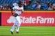 Sep 23, 2013; Atlanta, GA, USA; Atlanta Braves right fielder Jason Heyward (22) runs back to the dugout in the first inning against the Milwaukee Brewers at Turner Field. Mandatory Credit: Daniel Shirey-USA TODAY Sports