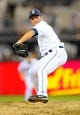 Sep 23, 2013; San Diego, CA, USA; San Diego Padres relief pitcher Huston Street (16) throws during the ninth inning against the Arizona Diamondbacks at Petco Park. The Padres won 4-1. Mandatory Credit: Christopher Hanewinckel-USA TODAY Sports
