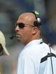 Sep 21, 2013; Foxborough, MA, USA; Vanderbilt Commodores head coach James Franklin during the first half against the Massachusetts Minutemen at Gillette Stadium. Mandatory Credit: Bob DeChiara-USA TODAY Sports