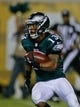 Aug 24, 2013; Jacksonville, FL, USA; Philadelphia Eagles wide receiver Damaris Johnson (13) makes a kickoff return during the second quarter of their game against the Jacksonville Jaguars at EverBank Field The Philadelphia Eagles beat the Jacksonville Jaguars 31-24. Mandatory Credit: Phil Sears-USA TODAY Sports