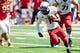 Sep 7, 2013; Champaign, IL, USA; Cincinnati Bearcats running back Ralph Abernathy (1) runs the ball against the Illinois Fighting Illini at Memorial Stadium. Mandatory Credit: Bradley Leeb-USA TODAY Sports