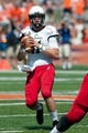 Sep 7, 2013; Champaign, IL, USA; Cincinnati Bearcats quarterback Brendon Kay (11) during the game against the Illinois Fighting Illini at Memorial Stadium. Mandatory Credit: Bradley Leeb-USA TODAY Sports