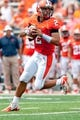 Sep 7, 2013; Champaign, IL, USA; Illinois Fighting Illini quarterback Nathan Scheelhaase (2) during the game against the Cincinnati Bearcats at Memorial Stadium. Mandatory Credit: Bradley Leeb-USA TODAY Sports