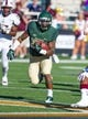 Sep 21, 2013; Waco, TX, USA; Baylor Bears running back Shock Linwood (32) runs with the ball during the game against the Louisiana Monroe Warhawks at Floyd Casey Stadium. The Bears defeated the Warhawks 70-7. Mandatory Credit: Jerome Miron-USA TODAY Sports