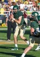Sep 21, 2013; Waco, TX, USA; Baylor Bears quarterback Seth Russell (17) drops back to pass during the game against the Louisiana Monroe Warhawks at Floyd Casey Stadium. The Bears defeated the Warhawks 70-7. Mandatory Credit: Jerome Miron-USA TODAY Sports