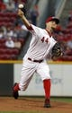 Sep 24, 2013; Cincinnati, OH, USA; Cincinnati Reds starting pitcher Mike Leake throws against the New York Mets in the first inning at Great American Ball Park. Mandatory Credit: David Kohl-USA TODAY Sports