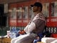 Sep 24, 2013; Cincinnati, OH, USA; New York Mets starting pitcher Jonathon Niese sits in the dugout during a game against the Cincinnati Reds at Great American Ball Park. Mandatory Credit: David Kohl-USA TODAY Sports