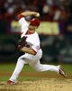 Sep 24, 2013; St. Louis, MO, USA; St. Louis Cardinals relief pitcher Trevor Rosenthal (26) throws to a Washington Nationals batter during the ninth inning at Busch Stadium. St. Louis defeated Washington 2-0. Mandatory Credit: Jeff Curry-USA TODAY Sports