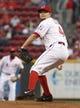 Sep 24, 2013; Cincinnati, OH, USA; Cincinnati Reds starting pitcher Mike Leake throws against the New York Mets at Great American Ball Park. Mandatory Credit: David Kohl-USA TODAY Sports