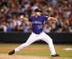 Sep 24, 2013; Denver, CO, USA; Colorado Rockies pitcher Chad Bettis (35) delivers a pitch during the eighth inning against the Boston Red Sox at Coors Field. The Rockies won 8-3.  Mandatory Credit: Chris Humphreys-USA TODAY Sports