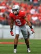 Sep 21, 2013; Columbus, OH, USA; Ohio State Buckeyes wide receiver Devin Smith (9) against Florida A&M Rattlers at Ohio Stadium. Mandatory Credit: Andrew Weber-USA TODAY Sports