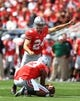 Sep 21, 2013; Columbus, OH, USA; Ohio State Buckeyes kicker Drew Basil (24) against Florida A&M Rattlers at Ohio Stadium. Mandatory Credit: Andrew Weber-USA TODAY Sports