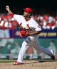 Sep 25, 2013; St. Louis, MO, USA; St. Louis Cardinals relief pitcher Carlos Martinez (62) delivers a pitch against the Washington Nationals at Busch Stadium. The Cardinals defeated the Nationals 4-1. Mandatory Credit: Scott Rovak-USA TODAY Sports